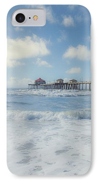 Ocean Blue At The Pier IPhone Case