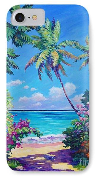 Beach iPhone 8 Case - Ocean View With Breadfruit Tree by John Clark
