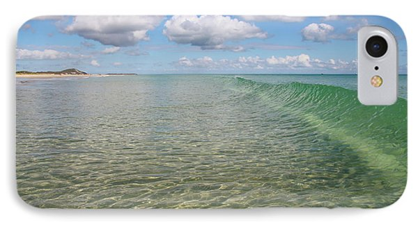 Ocean Waves And Clouds Rollin' By IPhone Case