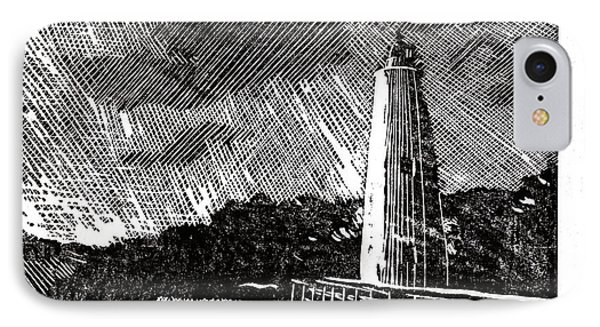 Ocracoke Island Lighthouse II IPhone Case