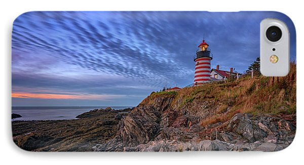 October Sky At West Quoddy Head Light IPhone Case