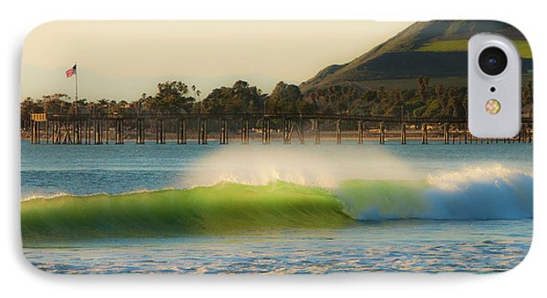 Offshore Wind Wave And Ventura, Ca Pier IPhone Case
