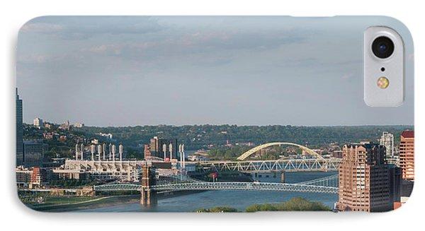 Ohio River's Suspension Bridge IPhone Case