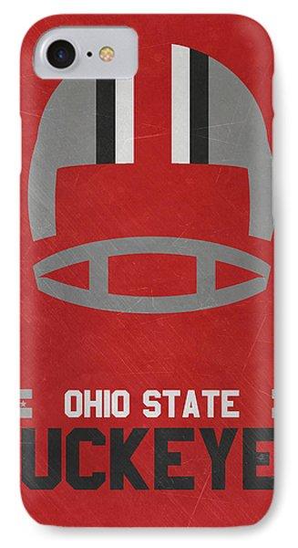Ohio State Buckeyes Vintage Football Art IPhone Case