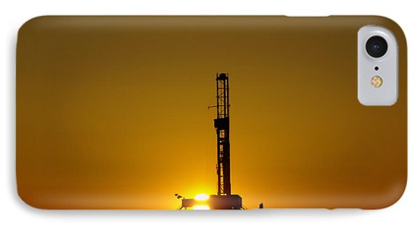 Oil Rig Near Killdeer In The Morn IPhone Case