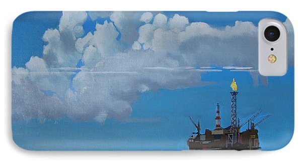 Oil Rig Near The Shetland Islands IPhone Case