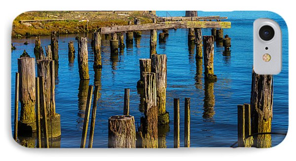 Old Boat And Pier Posts IPhone Case