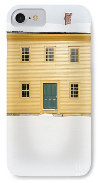 Old Colonial Era Period House In Winter IPhone Case