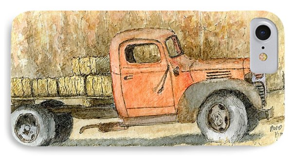 Old Dodge Truck In Autumn IPhone Case