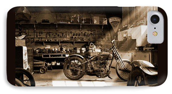 Old Motorcycle Shop IPhone Case