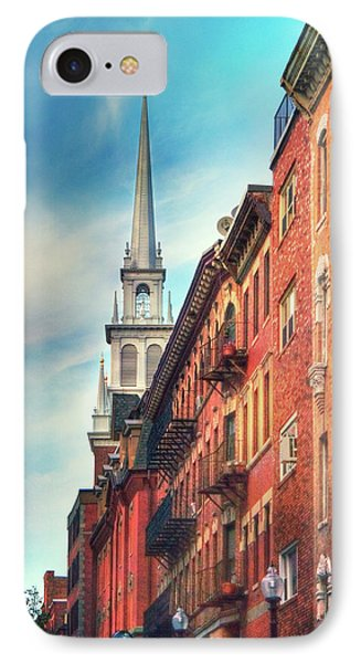 IPhone Case featuring the photograph Old North Church - Boston North End by Joann Vitali
