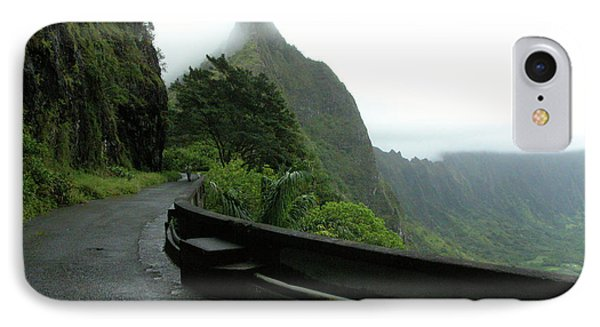 IPhone Case featuring the photograph Old Pali Road, Oahu, Hawaii by Mark Czerniec