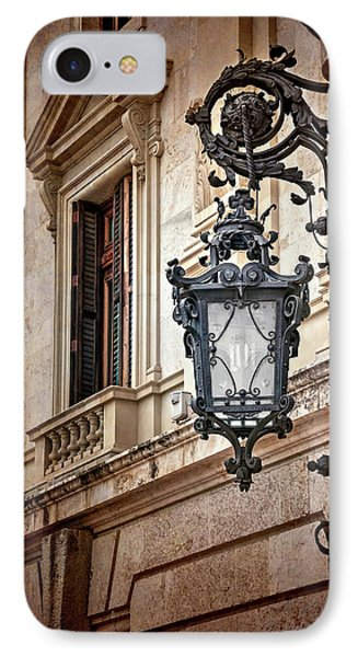 Old Style Street Lamp In Valencia Spain  IPhone Case