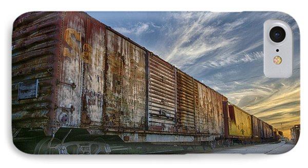 Old Train - Galveston, Tx IPhone Case