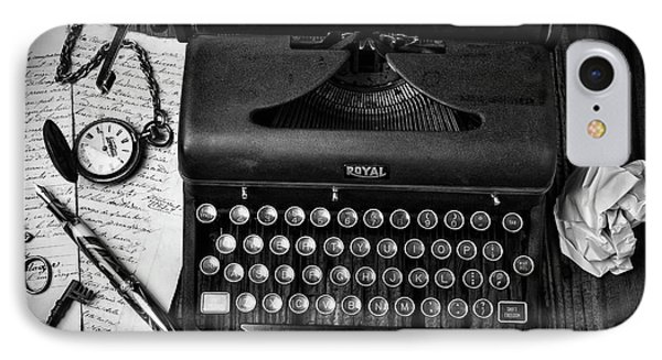 Old Typewriter With Letters IPhone Case