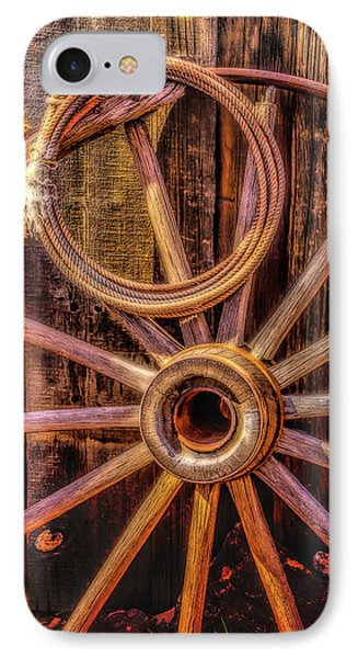 Old Wheel And Rope IPhone Case
