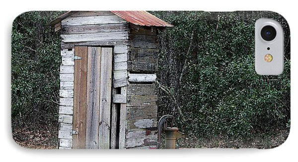 Oldtime Outhouse - Digital Art IPhone Case