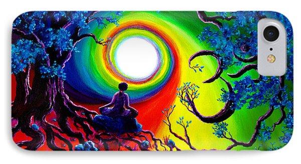 Om Tree Of Life Meditation IPhone Case
