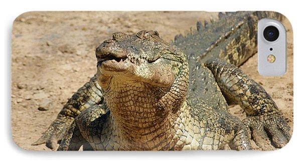 One Crazy Saltwater Crocodile IPhone Case