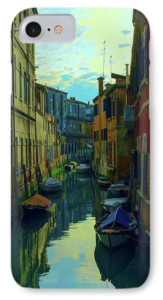 one of the many Venetian canals at the end of a Sunny summer day IPhone Case