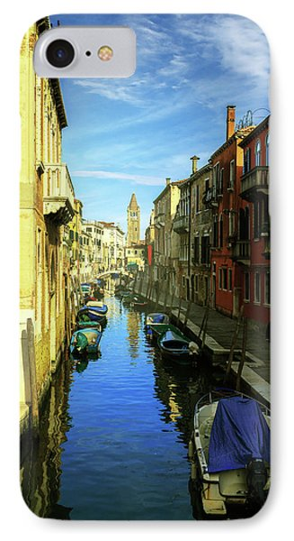 one of the many Venetian canals on a Sunny summer day IPhone Case