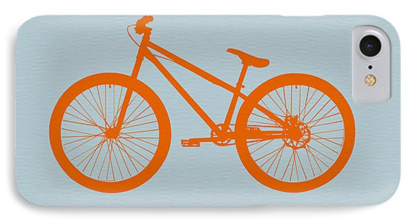 Transportation iPhone 8 Case - Orange Bicycle  by Naxart Studio