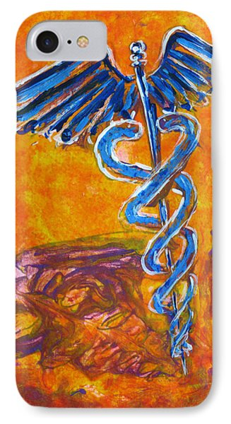 Orange Blue Purple Medical Caduceus Thats Atmospheric And Rising With Mystery IPhone Case
