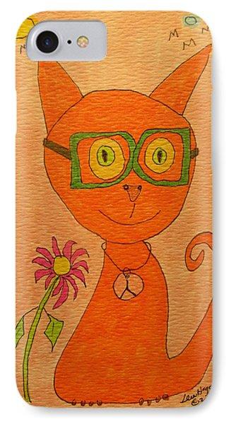 Orange Cat With Glasses IPhone Case