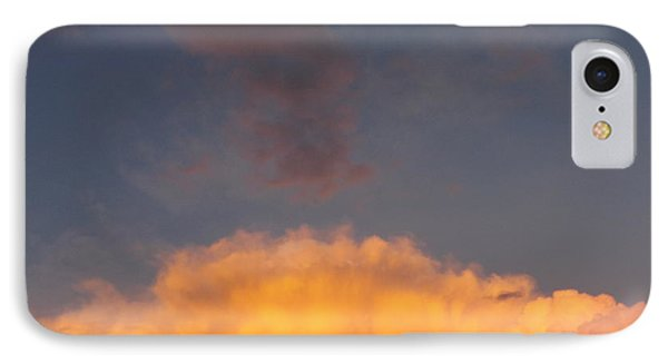 Orange Cloud With Grey Puffs IPhone Case