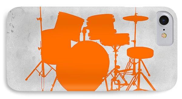 Drum iPhone 8 Case - Orange Drum Set by Naxart Studio
