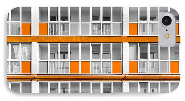Orange Exterior Decoration Details Of Modern Flats IPhone Case