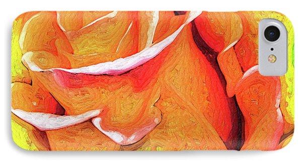 Orange Flame Rose IPhone Case
