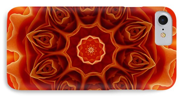 Orange Rose Mandala IPhone Case