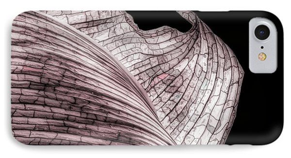 Orchid iPhone 8 Case - Orchid Leaf Macro by Tom Mc Nemar