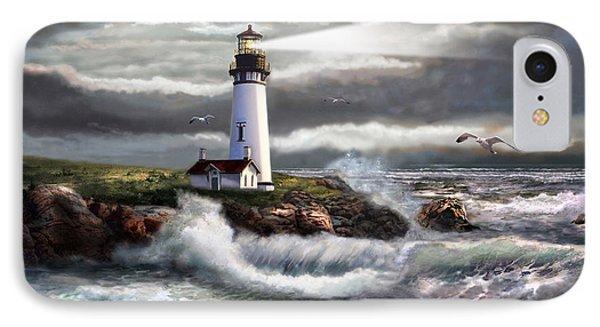 Oregon Lighthouse Beam Of Hope IPhone Case