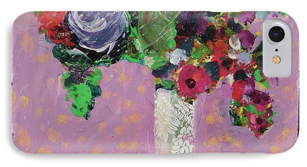 Original Bouquetaday Floral Painting 12x12 On Canvas, By Elaine Elliott, 59.00 Incl. Shipping IPhone Case
