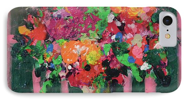 Original Bouquetaday Floral Painting By Elaine Elliott 59.00 Incl Shipping 12x12 On Canvas IPhone Case
