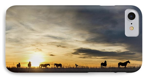 Osage Horses IPhone Case