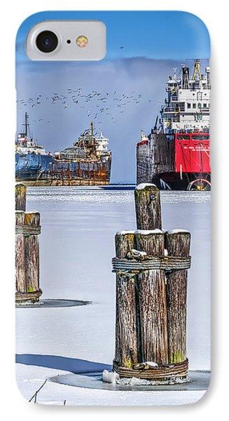 Owen Sound Winter Harbour Study #4 IPhone Case