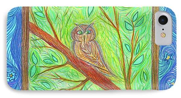Owl At My Window By Jrr IPhone Case