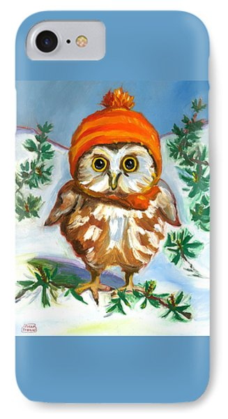 Owl In Orange Hat IPhone Case