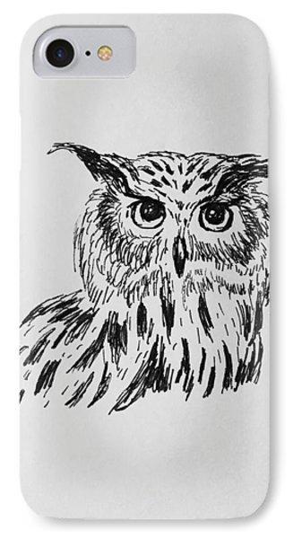 Owl Study 2 IPhone Case