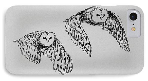 Owls In Flight IPhone Case