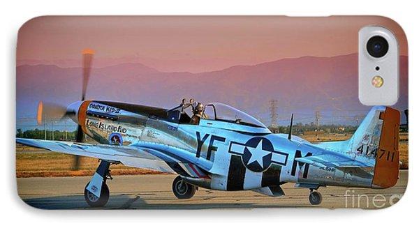 P-51d Mustang 'dakota Kid II. The Long Island Kid' And Casey Odegaard IPhone Case