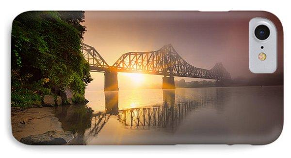 P And Le Ohio River Railroad Bridge IPhone Case