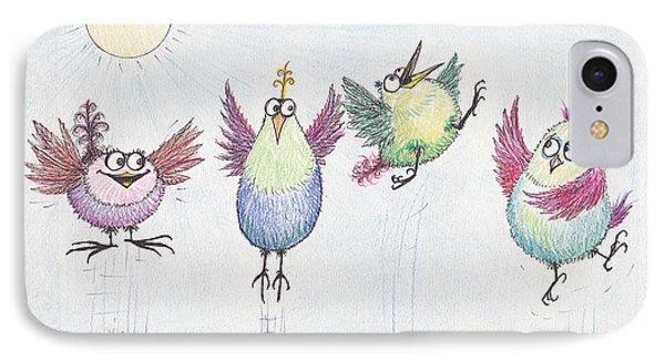 P4  Four Birds Celebrate IPhone Case