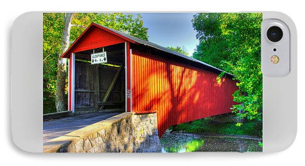 Pa Country Roads - Witherspoon Covered Bridge Over Licking Creek No. 4b - Franklin County IPhone Case