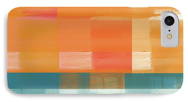 Pacific Sunset 2- Abstract Art By Linda Woods IPhone Case