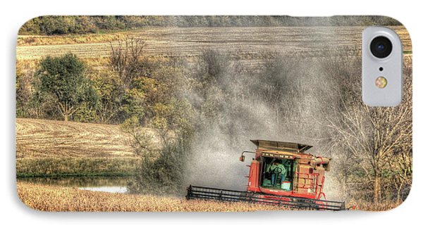 Page County Iowa Soybean Harvest IPhone Case