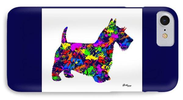 Paint Splatter Scottish Terrier IPhone Case